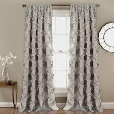 White Ruffle Curtain Panels Lush Decor Ruffle Diamond Window Curtain Panel Pair Free