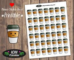 coffee planner stickers printable coffee cup printable planner stickers cute coffee planner stickers