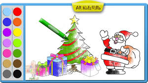 learn colors for kids and color christmas tree with santa and
