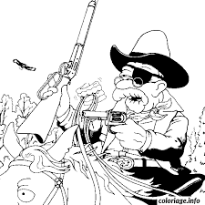 coloriage dessin simpson abraham is a cowboy dessin