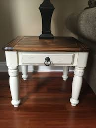 distressed wood end table awesome grace upon grace al white distressed end table 4200