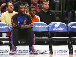 basketball player on bench no nate but knicks rally past nets ny daily news