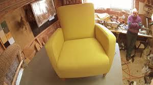 Reupholster Armchair Tutorial Reupholstering An Armchair Youtube