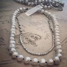 pearl bead necklace images Fresh water pearl and silver bead necklace from nakamol j jules JPG