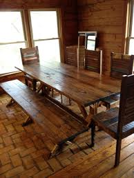 dining room table and bench set dining room dark wood rustic table with bench and set