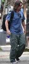 christian bale wears a leg brace on the new orleans set of the big