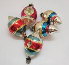 five vintage premier glass works ornaments ww2 era from