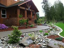 river rock garden gardening ideas