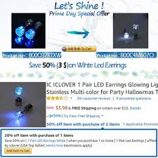 what delivers on thanksgiving amazon com ic iclover 1 pair led earrings glowing light up