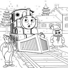 thomas train friends winter coloring pages boys