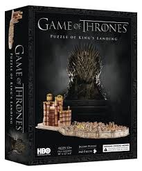 booktopia game of thrones kings landing 3d puzzle 260 piece 3d