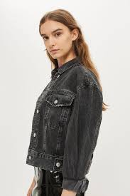 jacket moto moto oversized cropped jacket topshop