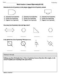 4 g 3 symmetry 4th grade common core math worksheets by tonya gent