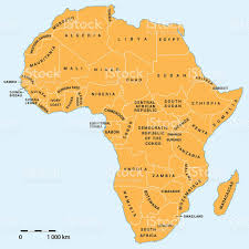 Map Of Africa Political by Africa Political Map Stock Vector Art 638048506 Istock