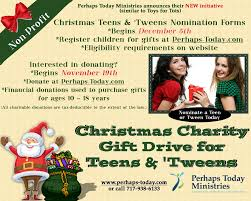 application for teens and tweens gift drive perhaps today