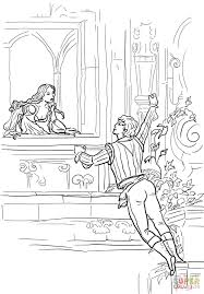romeo and juliet balcony scene coloring page free printable