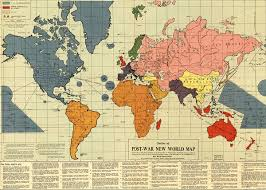 World Map Malta Showing Malta by Outline Of The Post War New World Map Wikipedia