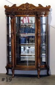 antique curio cabinet with curved glass antique curio china cabinet curved glass