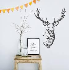 stag head vinyl wall sticker by oakdene designs