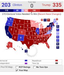 2016 Election Map 2016 Presidential Usa Election Prediction Electoral Map Election