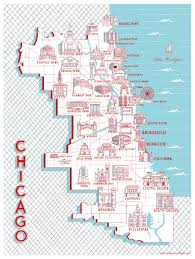 chicago map chicago map of landmarks 18 x 24 building drawings and