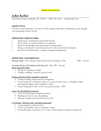 Retired Military Resume Examples by Pastor Resume Sample Berathen Com