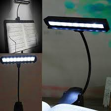 clip on reading light for bed lumiparty 9 leds flexible high power clip on music stand cl night