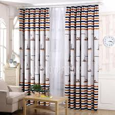 Navy Blue Curtains For Nursery Mediterranean Style Orange And Navy Blue Stripe Polyester Nursery