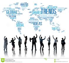 trends world map marketing ideas social style concept stock