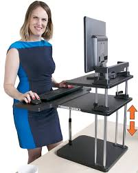 Adjustable Standing Sitting Desk Uptrak Standing Desk By Stand Steady Dual Level