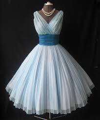 knee length a line v neckline light blue bridesmaid dress