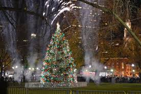 boston tree lighting on boston common traditions here