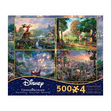 ceaco puzzles walmart com thomas kinkade disney dreams 4 in 1 jigsaw puzzle multi pack series