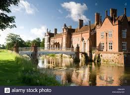 English Tudor Houses Helmingham Hall Suffolk English Garden Formal Classic Tudor