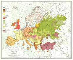 Southeastern Europe Map by Map Of The Races Of Europe National Geographic Magazine 1919