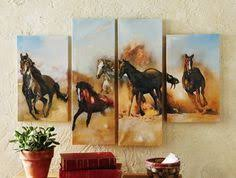 Horse Decor For The Home Western Abstract Picture No Frame Modern Home Wall Decor Canvas