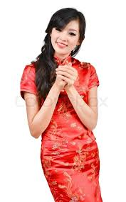 pretty new years dresses pretty girl with cheongsam wishing you a happy new year