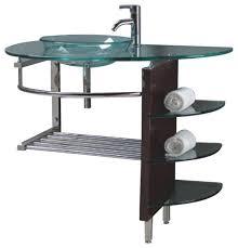 indoor wall mounted ls wall mount clear glass vessel sink combo w stand bathroom regarding