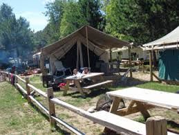 paddlers village on lake superior upper peninsula of michigan