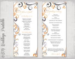 Wedding Bulletin Templates Catholic Wedding Program Template Champagne Scroll