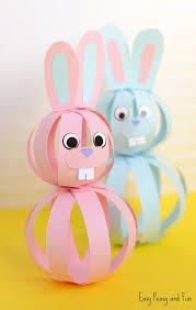 easter easter bunny easy paper bunny craft easter idea for kids easy peasy and
