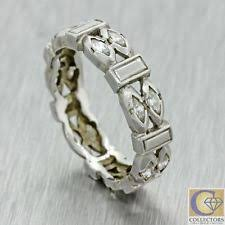 art deco diamond wedding band ebay