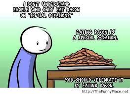 Funny Bacon Meme - meme eating bacon thefunnyplace