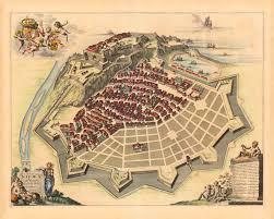 Nice France Map by Nice 1661 Nizza Nicaea Ad Varum Savoy France Blaeu Map