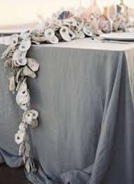 diy oyster shell garland once wed