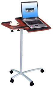 Adjustable Rolling Laptop Desk by Furniture White Lacquer Metal Rolling Laptop Stand With Wheels
