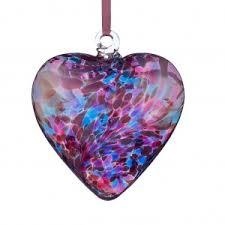 friendship heart glass glass friendship heart figurines ornaments