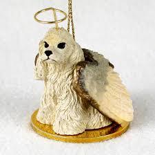 cocker spaniel figurine statue ornament