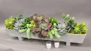 planter for succulents long succulent arrangement