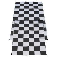 Polypropylene Rugs Outdoor by Fireside Patio Mats Racing Checks Black And White Checkered Flag 6